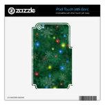 Luces de la nieve del navidad skins para iPod touch 4G