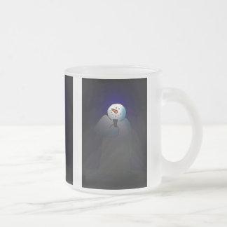 Luces de la nieve taza de cristal