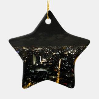 Luces de la noche de Bangkok Adorno Navideño De Cerámica En Forma De Estrella