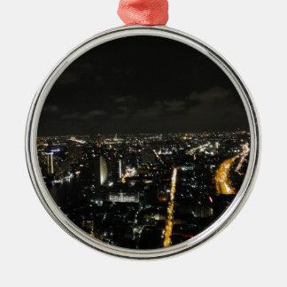 Luces de la noche de Bangkok Adorno Navideño Redondo De Metal