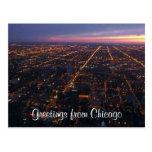 luces de la noche de Chicago Postal