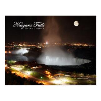 Luces de la noche de Niagara Falls Postales