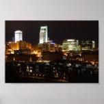 Luces de la noche de Omaha Posters