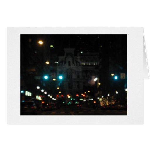 Luces de la noche de Philly Tarjeta De Felicitación
