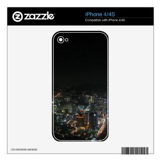 LUCES DE LA NOCHE DE SEUL CALCOMANÍAS PARA EL iPhone 4