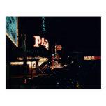 Luces de la noche de Vegas Postales