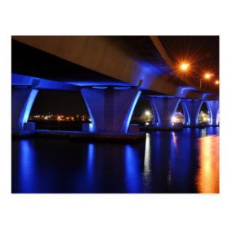 Luces de la noche en Miami - postal