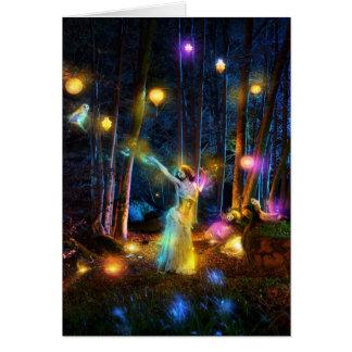 Luces de la noche tarjeta de felicitación
