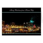 Luces de la plaza de Kansas City de los fuegos Tarjeta De Felicitación