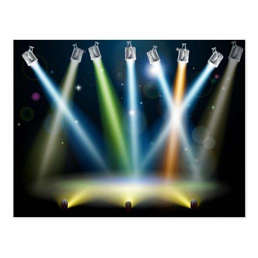 Luces de la sala de baile o de la etapa tarjeta postal