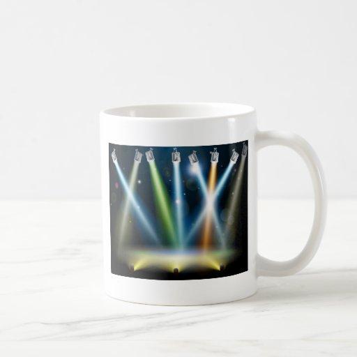 Luces de la sala de baile o de la etapa tazas de café