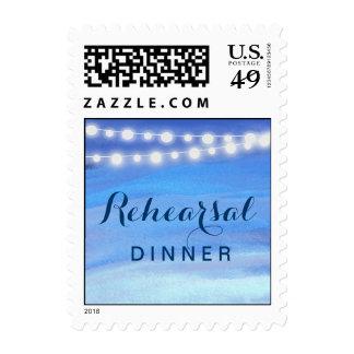 Luces de la secuencia de la cena del ensayo en el sellos
