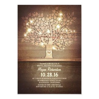 """Luces de la secuencia y ducha nupcial del árbol invitación 5"""" x 7"""""""
