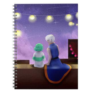 Luces de la tarde spiral notebook