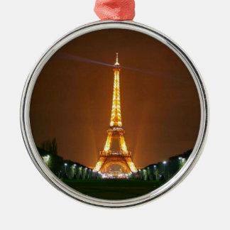 Luces de la torre Eiffel Adorno Navideño Redondo De Metal