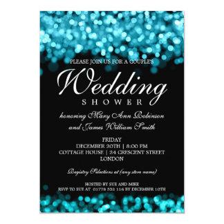 """Luces de la turquesa de la ducha de los pares invitación 5"""" x 7"""""""