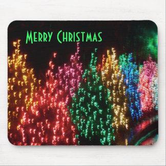 Luces de las Felices Navidad Alfombrillas De Raton
