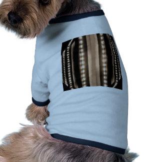 Luces de los colores de color caqui del café de la camiseta con mangas para perro