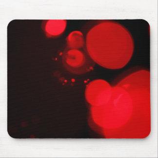 Luces de navidad alternativas rojas alfombrilla de ratón