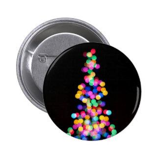 Luces de navidad borrosas pin redondo 5 cm