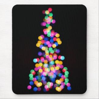 Luces de navidad borrosas alfombrillas de raton