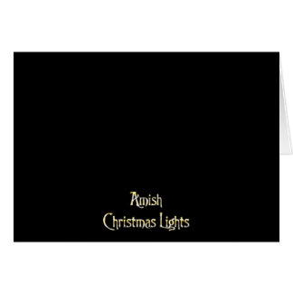 Luces de navidad de Amish Tarjeta De Felicitación
