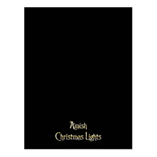 Luces de navidad de Amish Tarjetas Postales