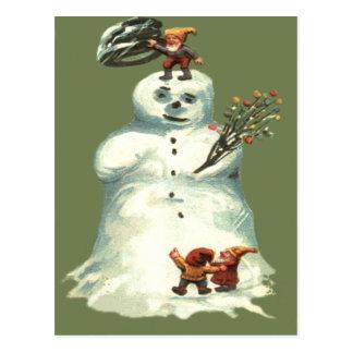 Luces de navidad de los duendes del navidad del tarjetas postales