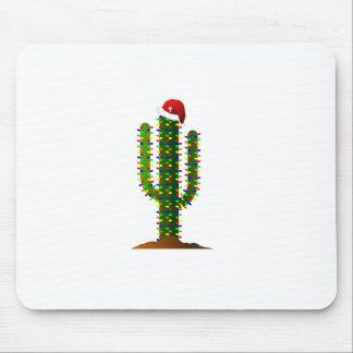 Luces de navidad del cactus del Saguaro de Arizona Tapete De Raton