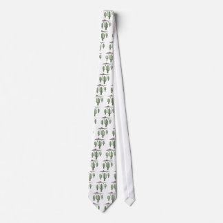 Luces de navidad del Saguaro Corbatas Personalizadas