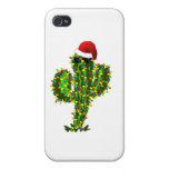 Luces de navidad del Saguaro iPhone 4/4S Fundas