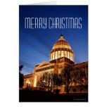 Luces de navidad en el capitolio, Little Rock Tarjeton