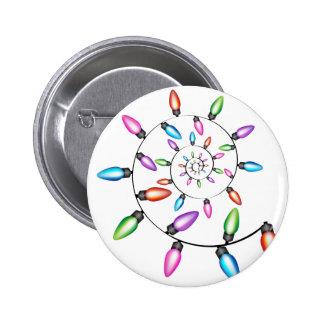 Luces de navidad espirales pin redondo de 2 pulgadas