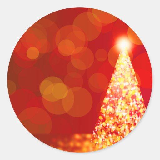 Luces de navidad etiqueta redonda