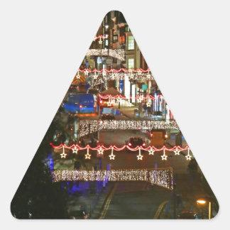 Luces de navidad Guildford Pegatinas Triangulo Personalizadas