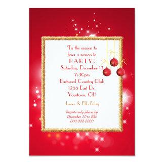 Luces de navidad invitación 12,7 x 17,8 cm
