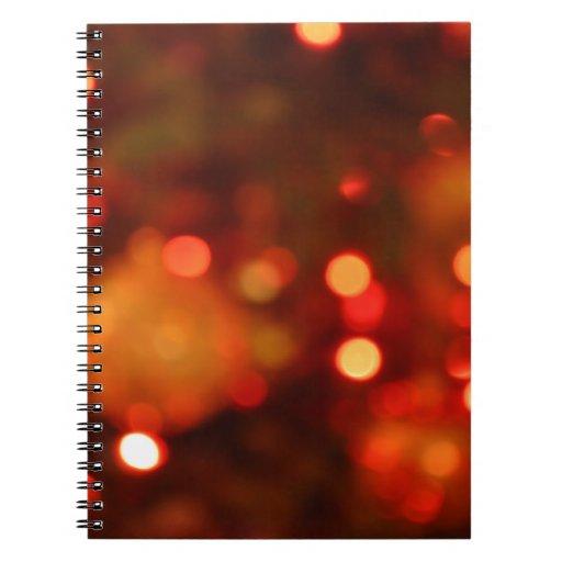 Luces de navidad libretas espirales