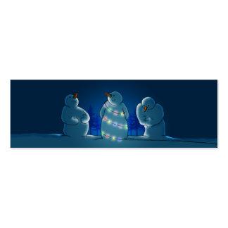 Luces de navidad nota o regalo tarjetas de visita mini
