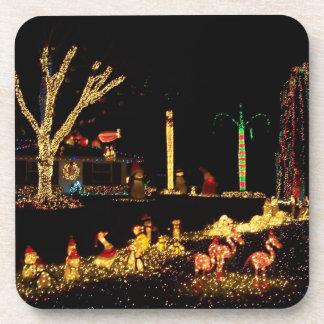 Luces de navidad posavasos