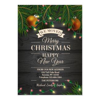 Luces de navidad que mueven la invitación