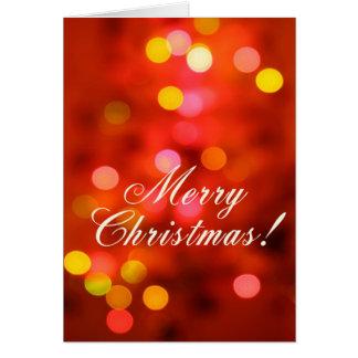 Luces de navidad tarjeta de felicitación