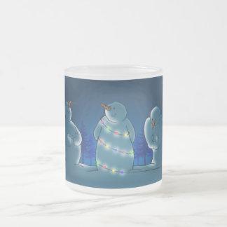 Luces de navidad taza de café esmerilada