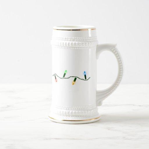 Luces de navidad tazas de café