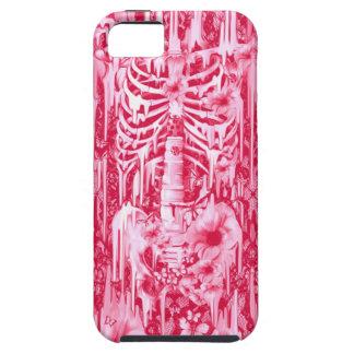 Luces de neón. Amapolas de las rosas fuertes y esq iPhone 5 Case-Mate Carcasa