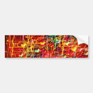 Luces de neón multicoloras etiqueta de parachoque