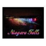 Luces de Niagara Falls en la noche Tarjeta Postal