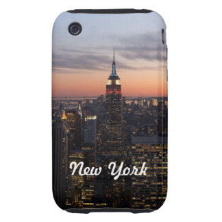 Luces de Nueva York iPhone 3 Tough Coberturas