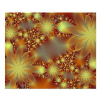 Luces de oro de la flor fotografía