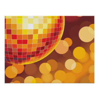 Luces de oro del tiempo del fiesta de disco impresiones