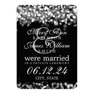 """Luces de plata de la boda/de la fuga invitación 4.5"""" x 6.25"""""""